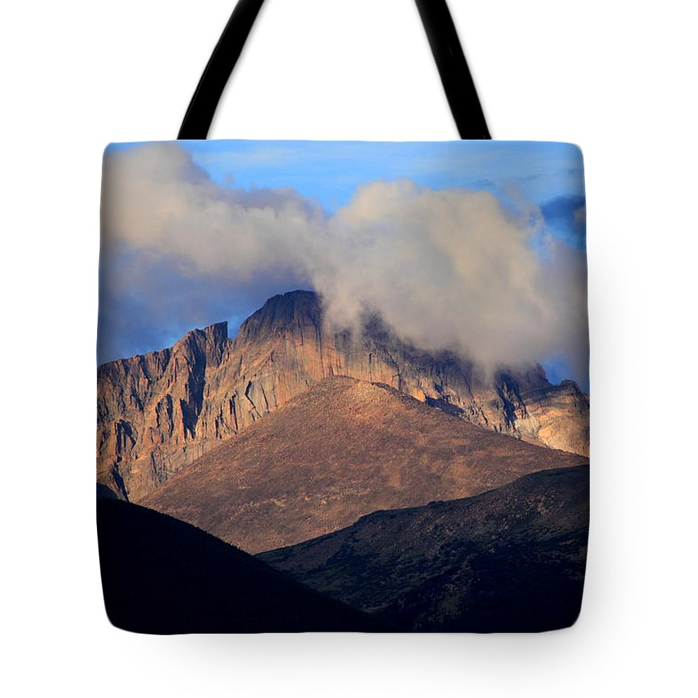 Landscape Tote Bag featuring the photograph Mountain Sky by Bryan Noll