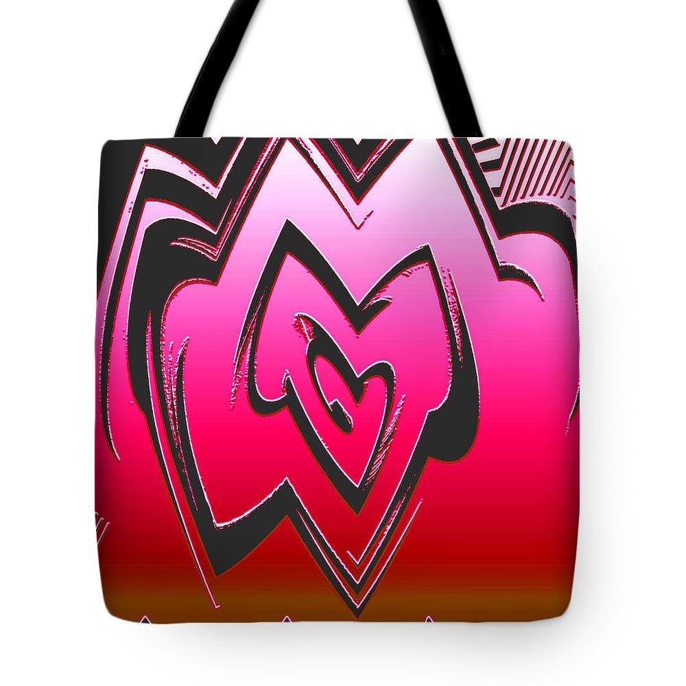 Moveonart! Global Gathering. Branch -- Digital Abstract Art By Artist Jacob Kane Kanduch -- Omnetra Tote Bag featuring the digital art Moveonart Abstractheart by Jacob Kanduch