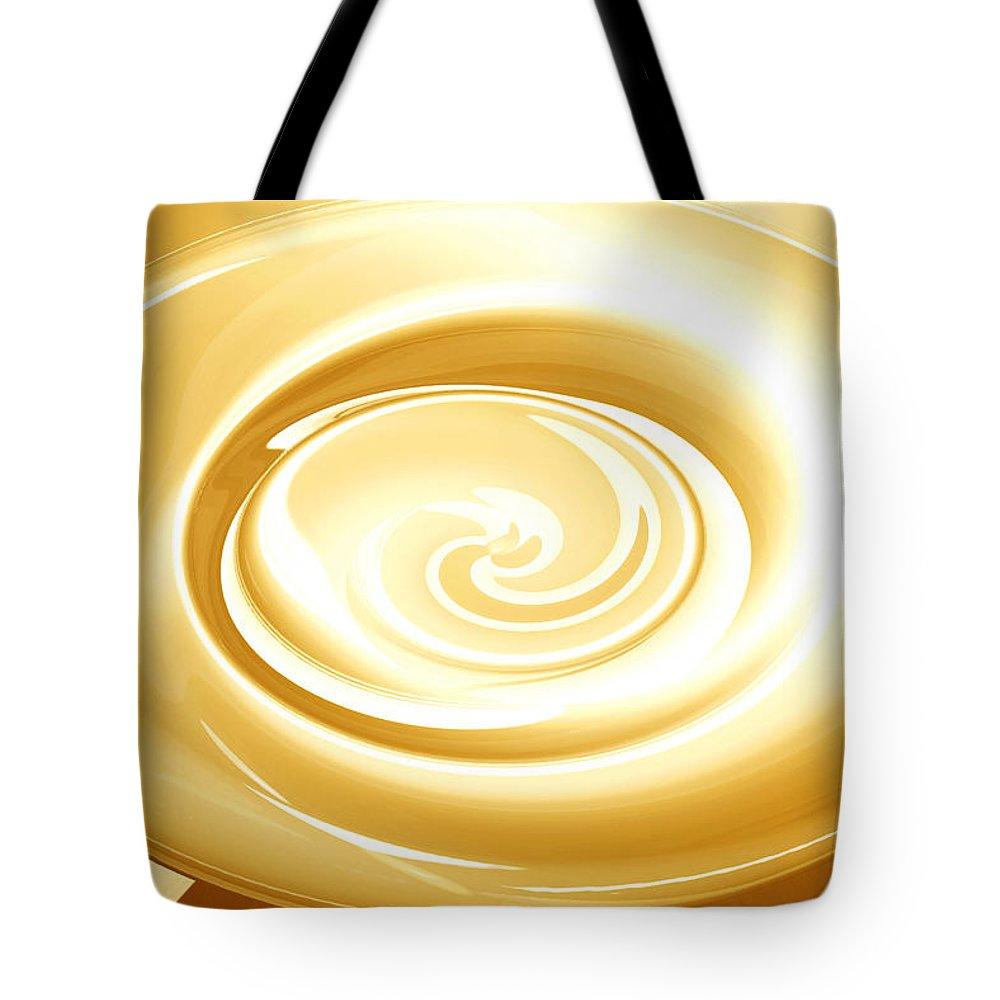 Moveonart! Global Gathering. Branch goingforgold Digital Abstract Art By Artist Jacob Kane Kanduch -- Omnetra Tote Bag featuring the digital art Moveonart Goingforgold by Jacob Kanduch