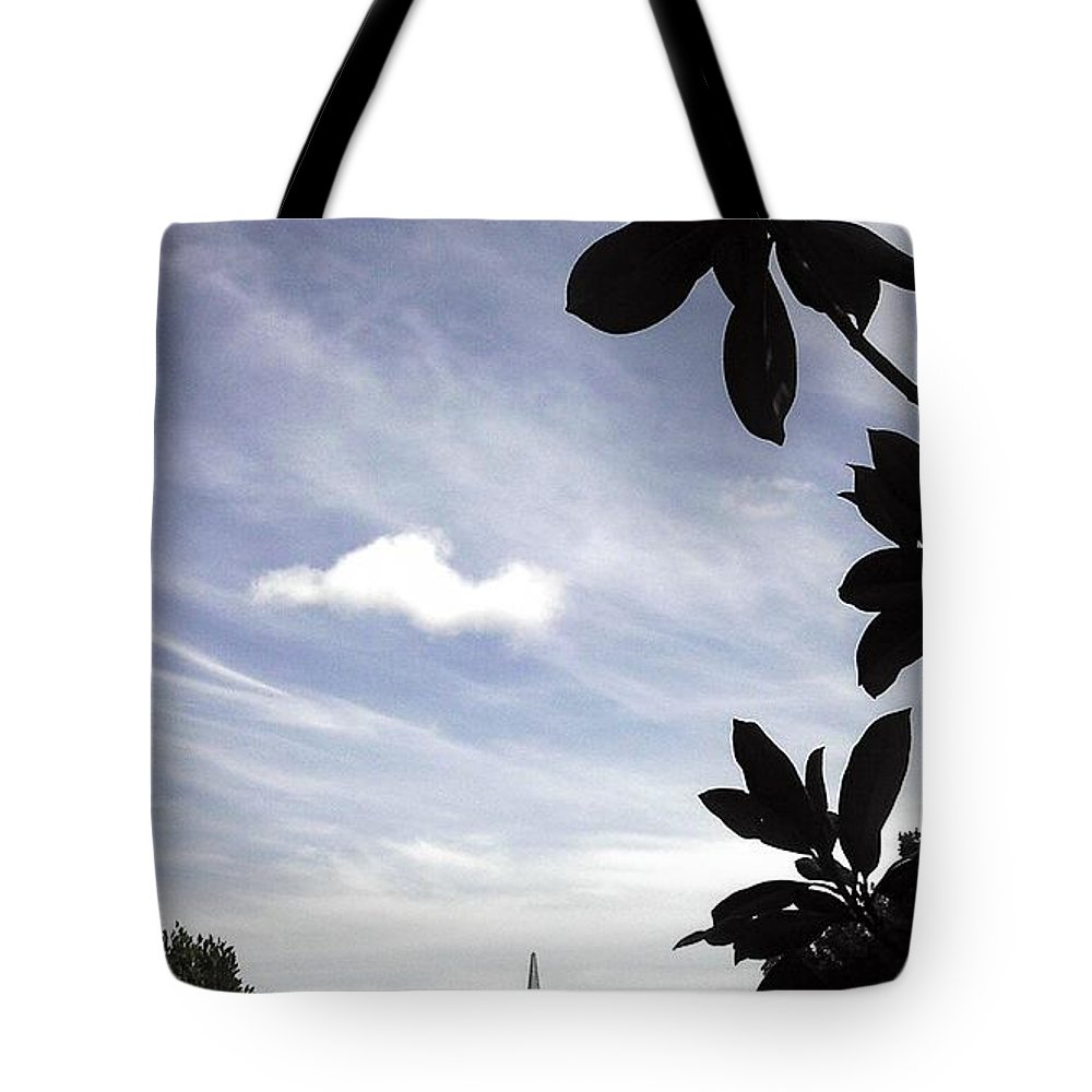 viewofpyramid Digital Abstract Art By Artist Jacob Kane Kanduch -- Omnetra Tote Bag featuring the digital art Moveonart Viewofpyramid by Jacob Kanduch