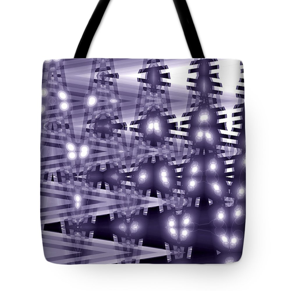 youcanmakeit Digital Abstract Art By Artist Jacob Kane Kanduch -- Omnetra Tote Bag featuring the digital art Moveonart Youcanmakeit by Jacob Kanduch