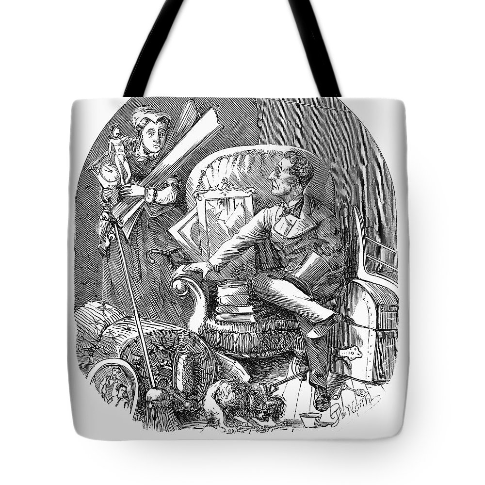 1870 Tote Bag featuring the photograph Moving Day, 1870 by Granger
