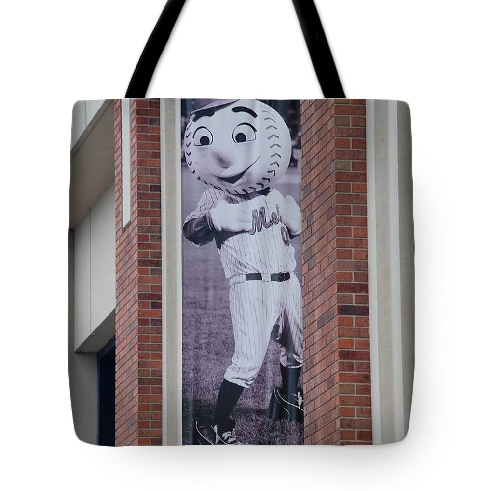 Shea Stadium Tote Bag featuring the photograph Mr Met by Rob Hans