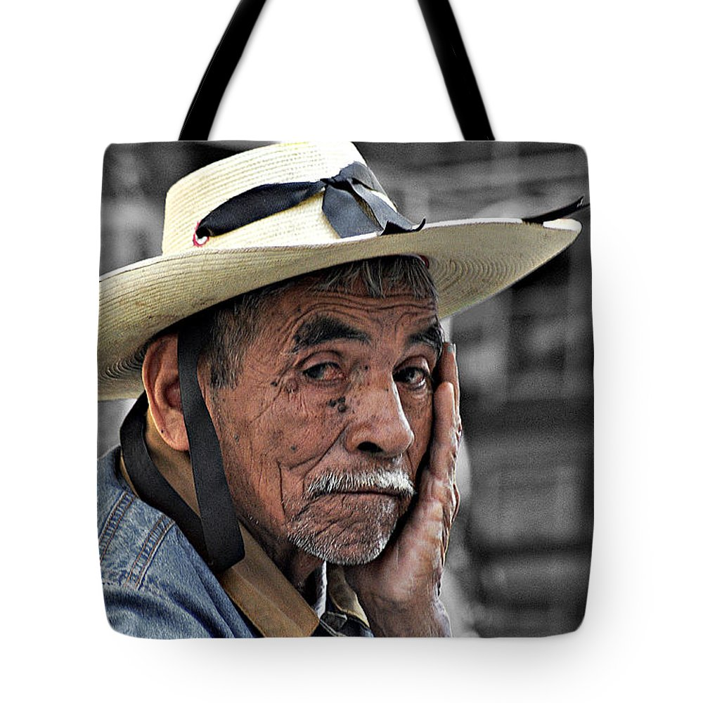 Portraits Tote Bag featuring the photograph Mr. Pedro by David Resnikoff
