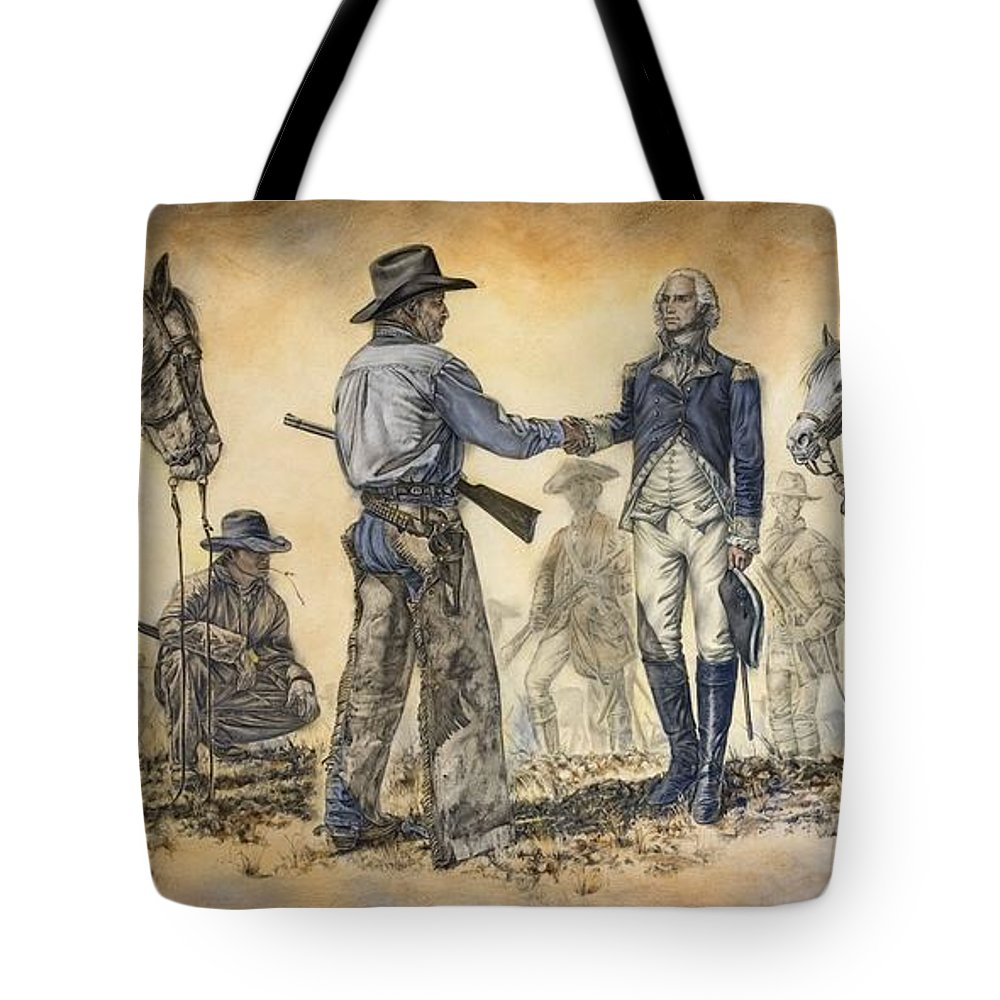 Patriotic Art Tote Bag featuring the painting Mr President We Need To Talk by Virgil Stephens