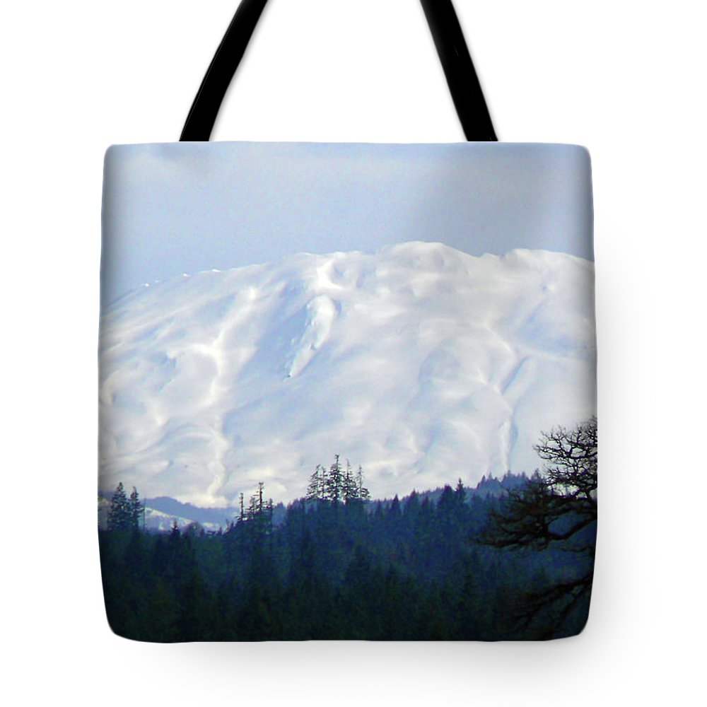 Helens Tote Bag featuring the photograph Mt St Helens by Pamela Patch