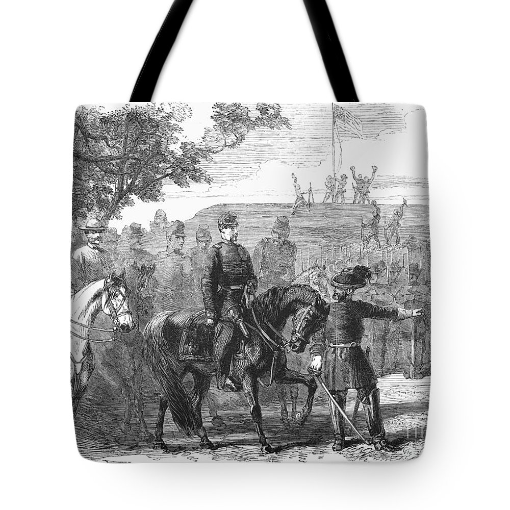 1861 Tote Bag featuring the photograph Munsons Hill, 1861 by Granger