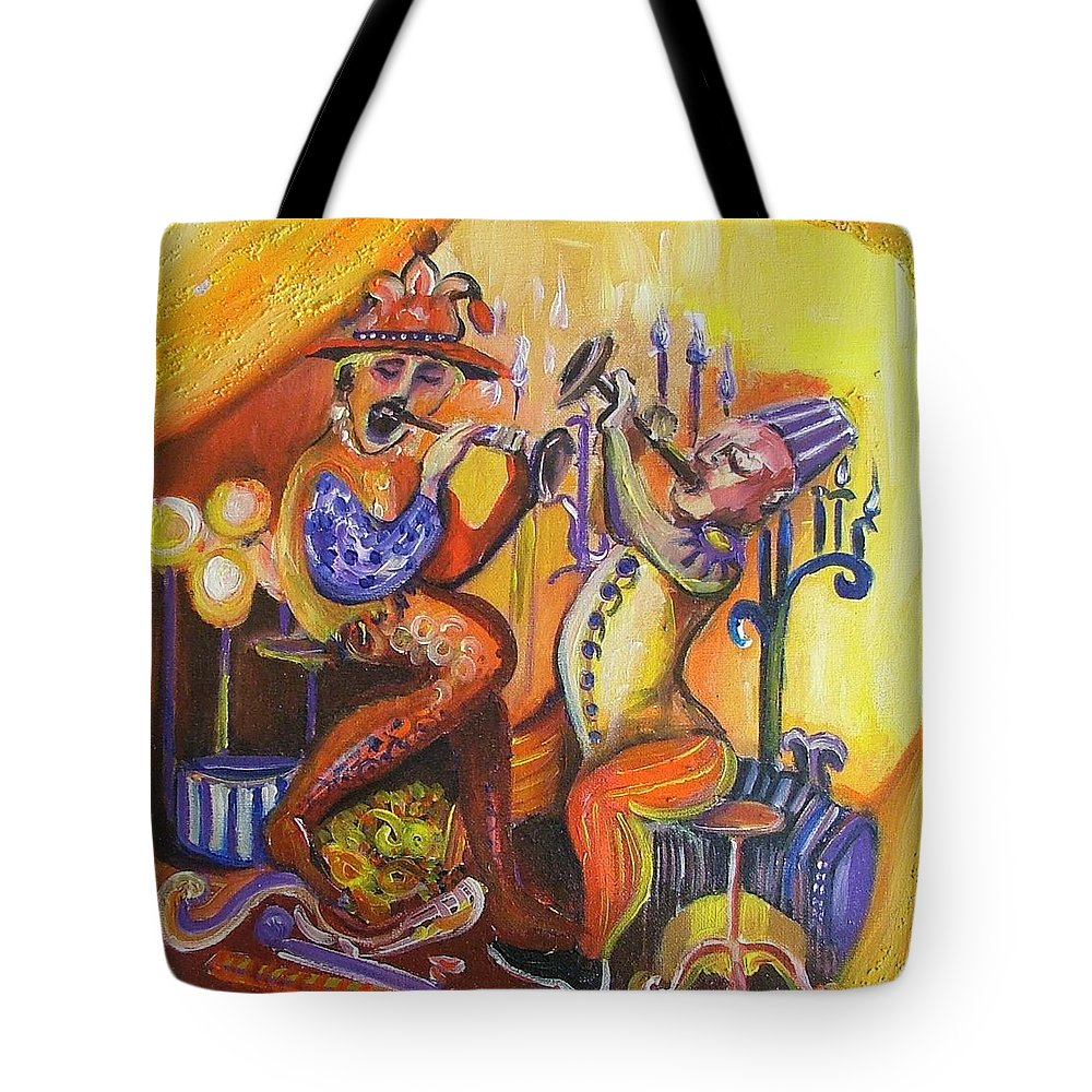 Painting Tote Bag featuring the painting Musical Evening by Rita Fetisov