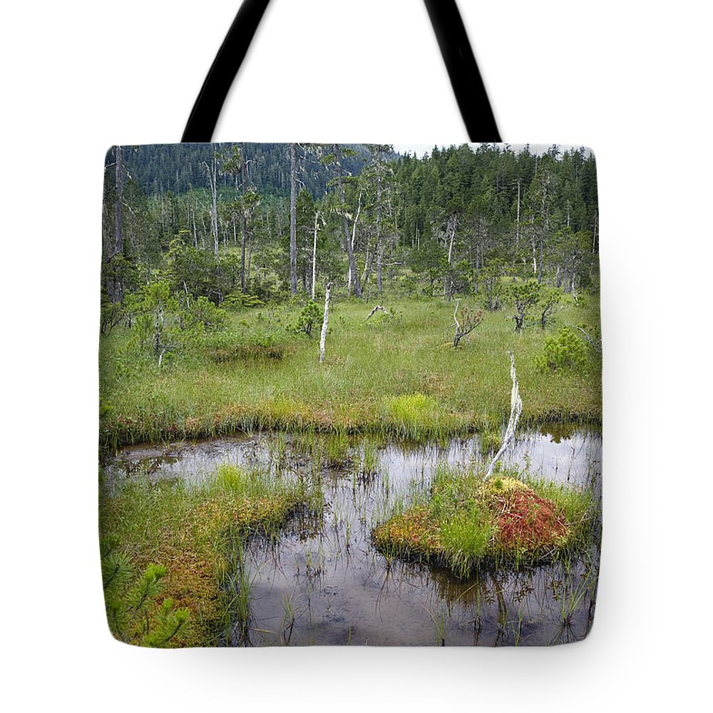 Mp Tote Bag featuring the photograph Muskeg Bog With Ponds, Mitkof Island by Konrad Wothe