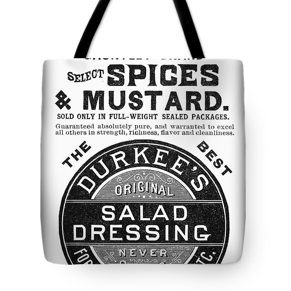 1887 Tote Bag featuring the photograph Mustard Ad, 1889 by Granger