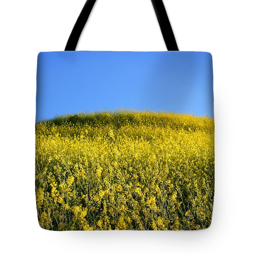 Nature Tote Bag featuring the photograph Mustard Grass by Henrik Lehnerer