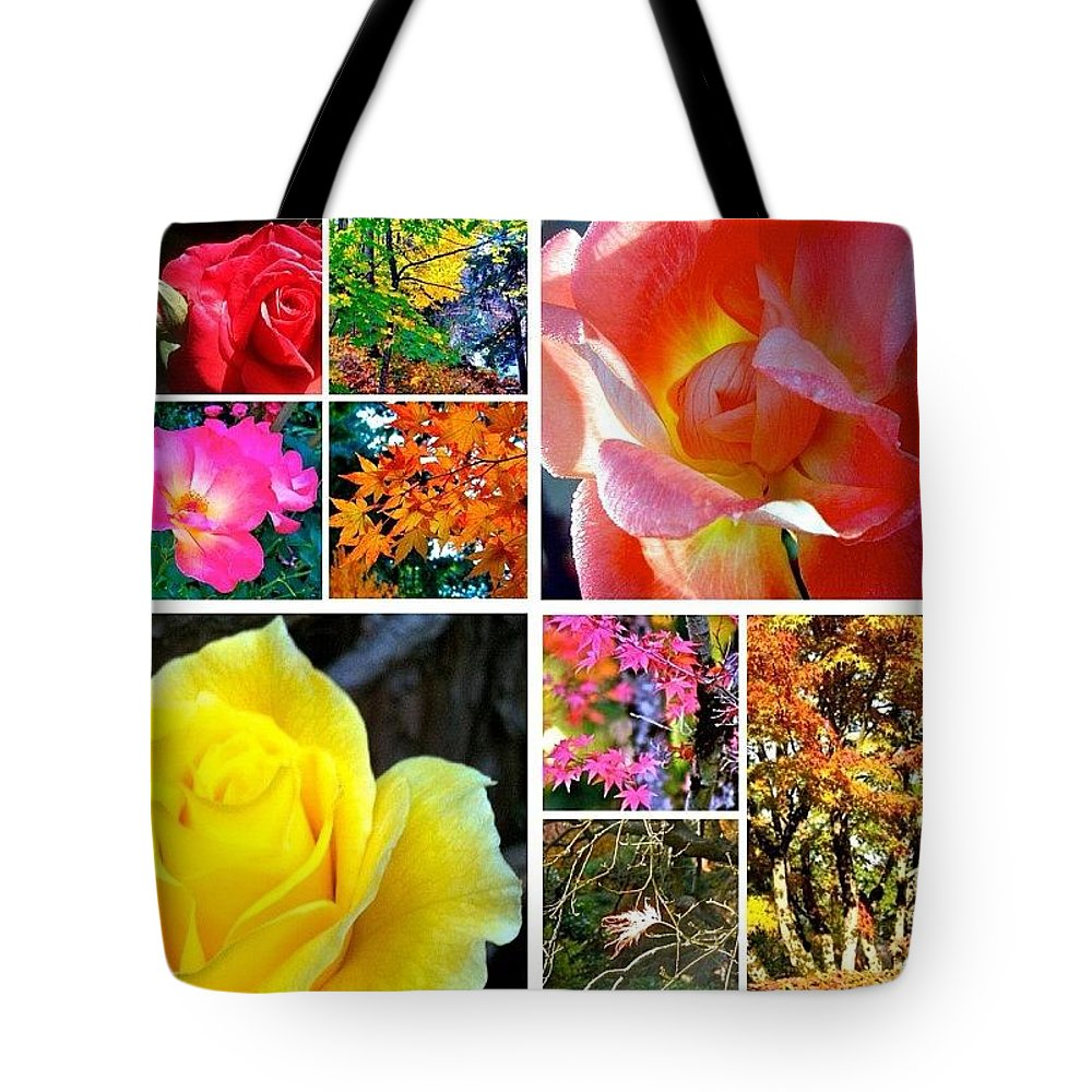 Fall Color Tote Bag featuring the photograph My #9ofPride Collage by Anna Porter