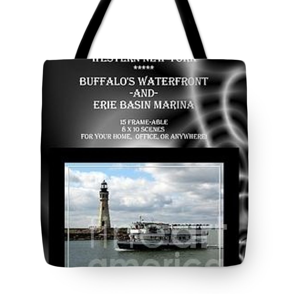 Buffalo Waterfront Tote Bag featuring the photograph My Buffalos Waterfront And Erie Basin Marina Book by Rose Santuci-Sofranko