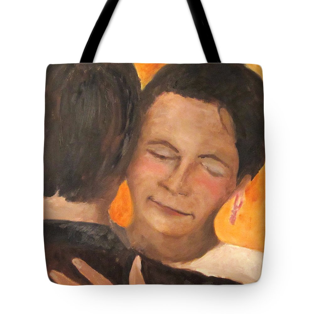 Dance Tote Bag featuring the painting My Favorite Place by Keith Thue