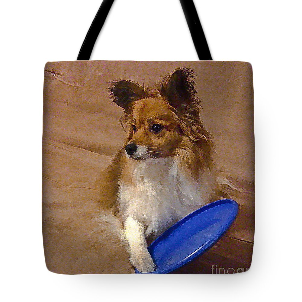 Frisbee Tote Bag featuring the photograph My Frisbee by Scott Hervieux