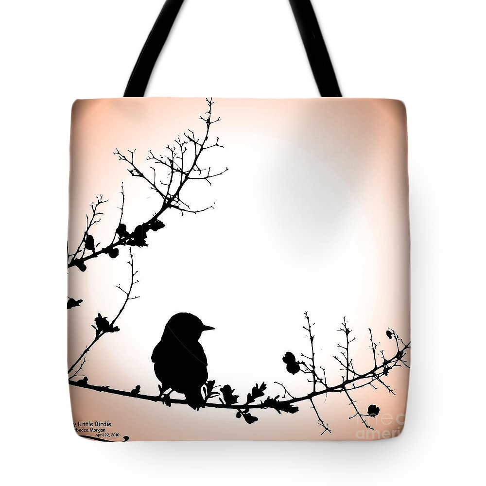 Silhouette Tote Bag featuring the photograph My Little Birdie by Rebecca Morgan