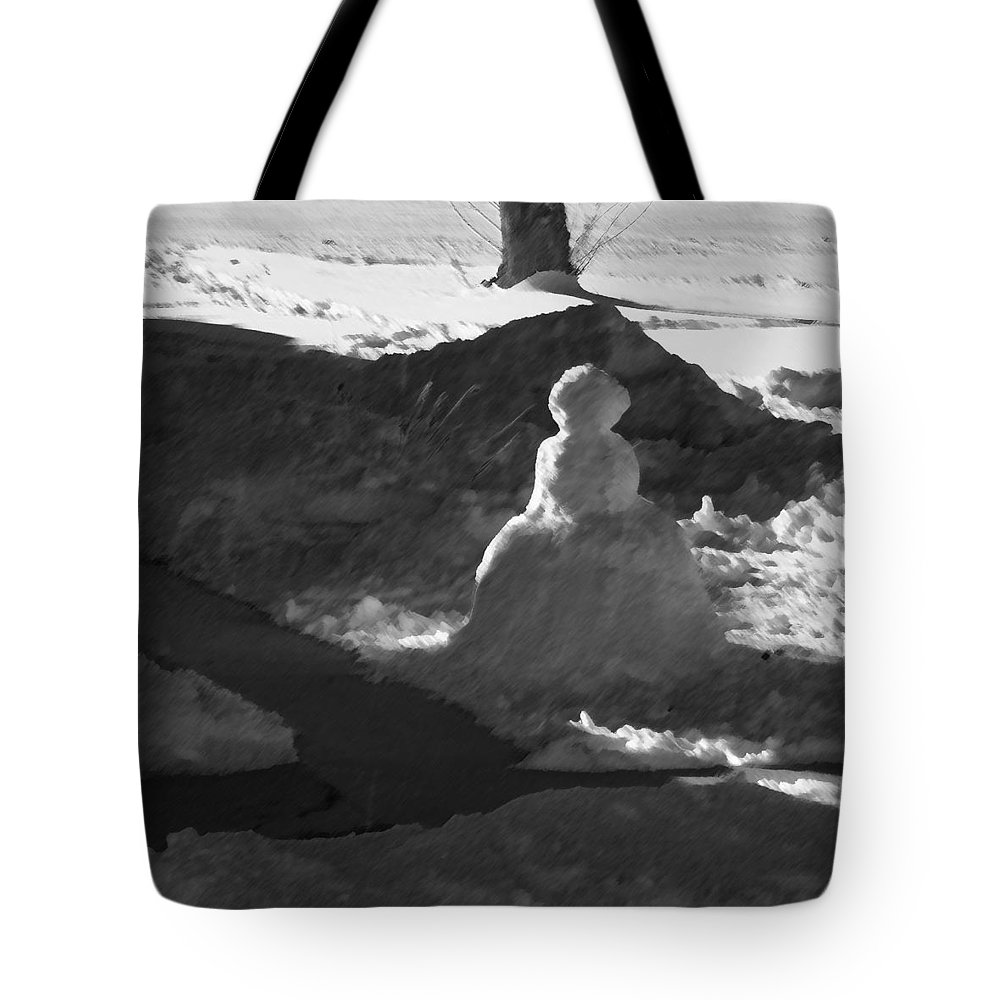 Abstract Tote Bag featuring the photograph My New Neighbor 2 by Lenore Senior