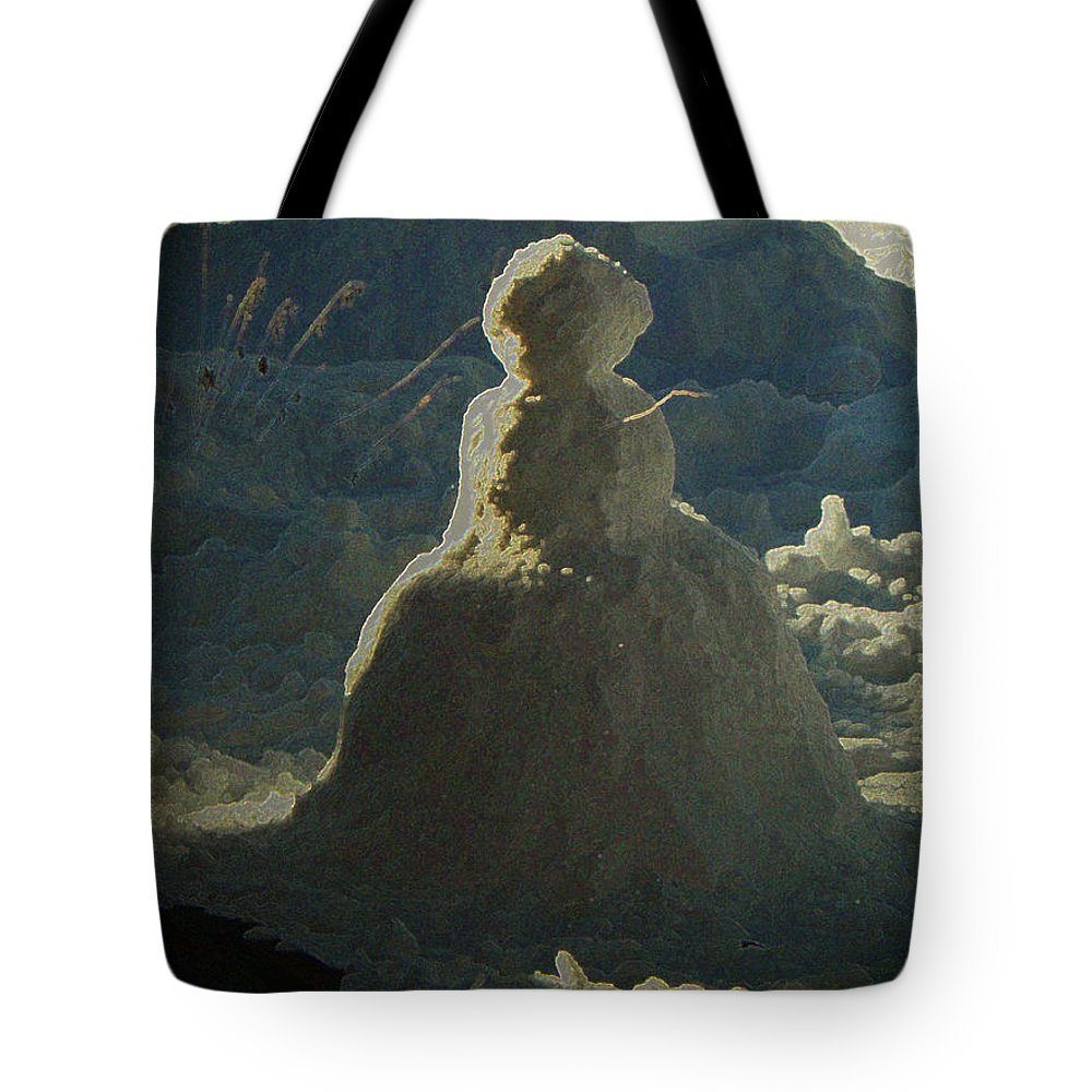 Abstract Tote Bag featuring the photograph My New Neighbor by Lenore Senior