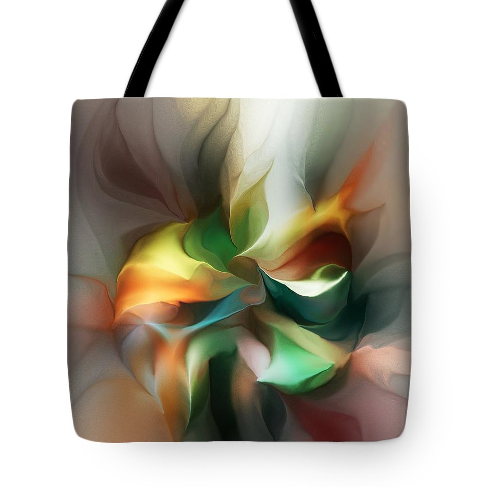 Fine Art Tote Bag featuring the digital art Mysterious Bloom by David Lane