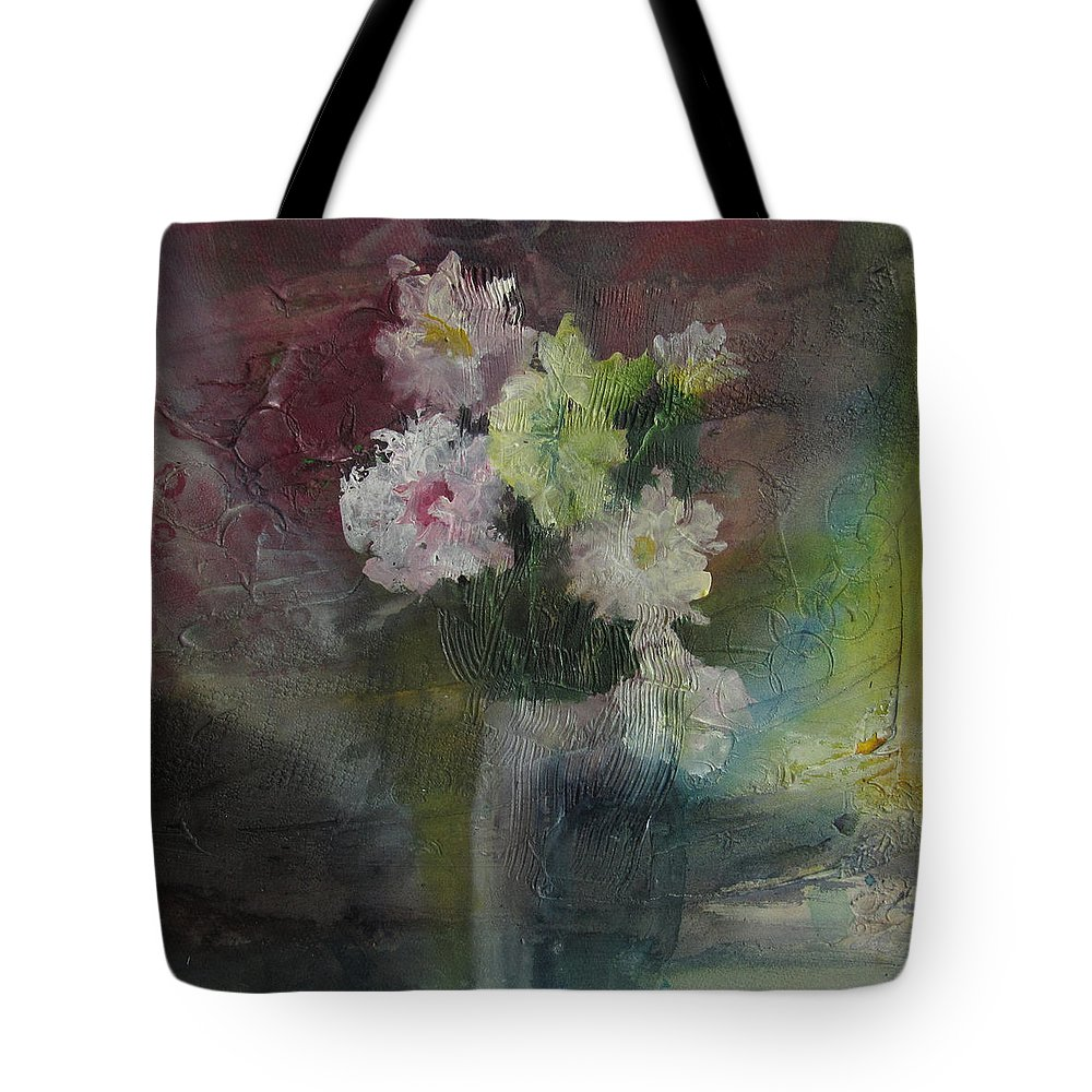 Floral Tote Bag featuring the painting Mystical Flowers by Marilyn Woods