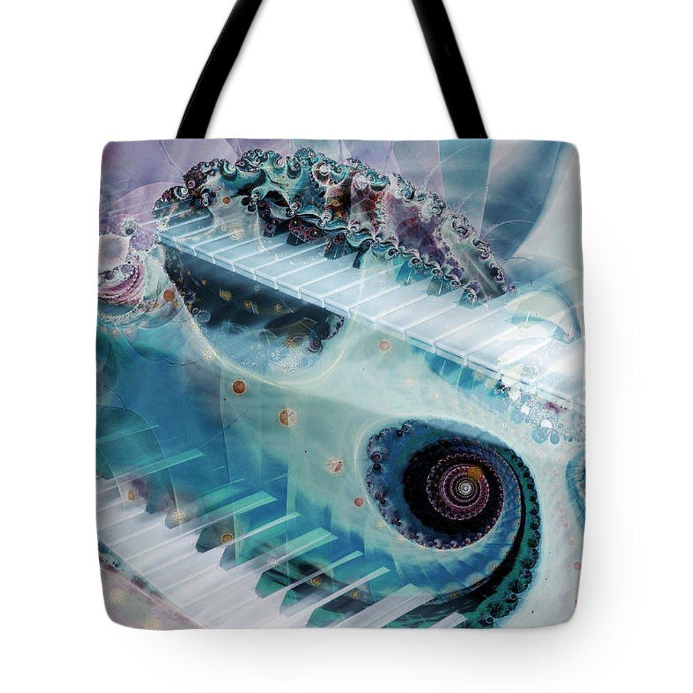 Mystical Keys Tote Bag featuring the photograph Mystical Keys by Linda Sannuti