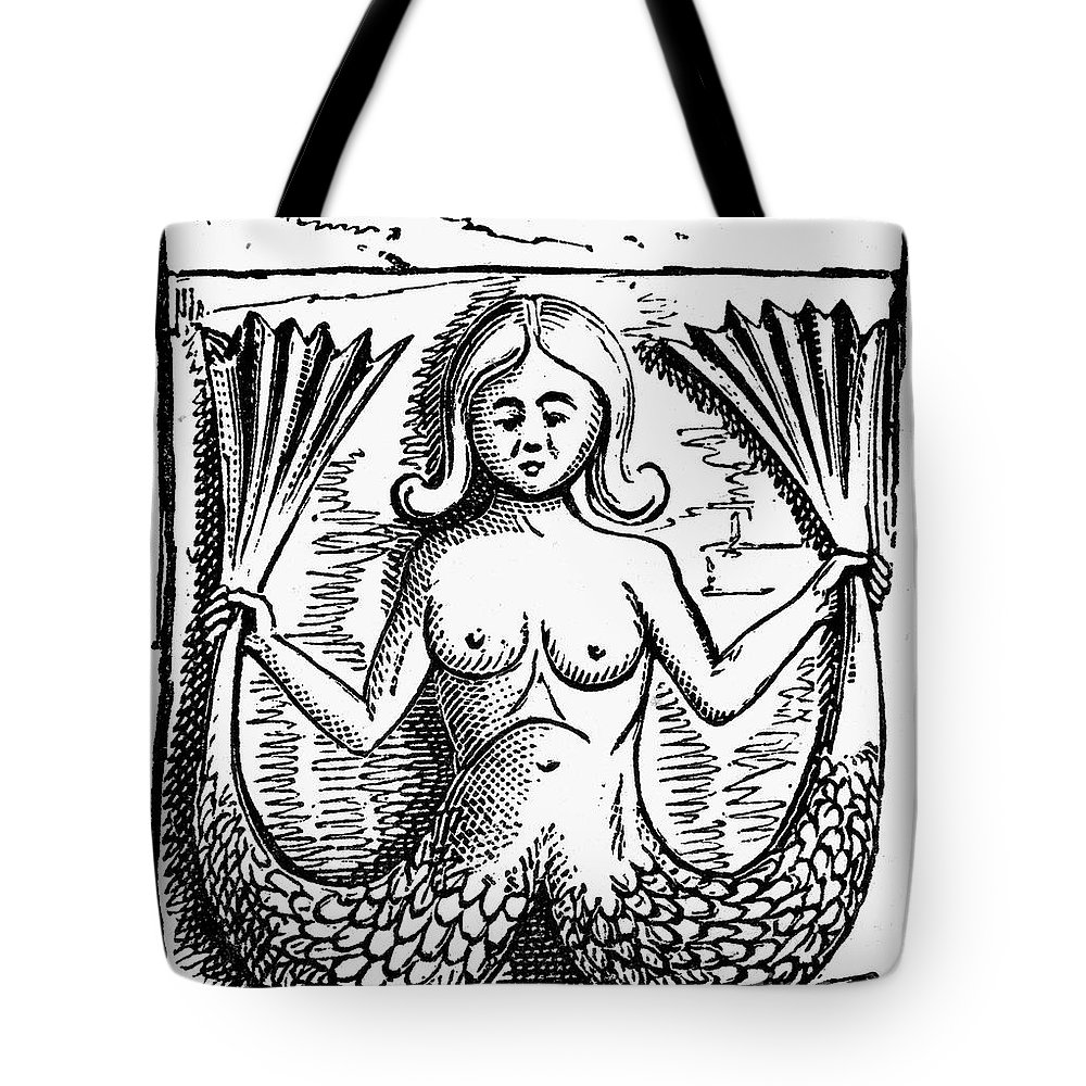 Ancient Tote Bag featuring the photograph Mythology: Mermaid by Granger