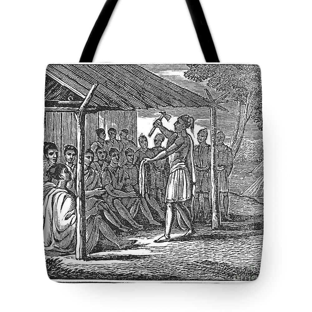 1835 Tote Bag featuring the photograph Native American Council, C1835 by Granger
