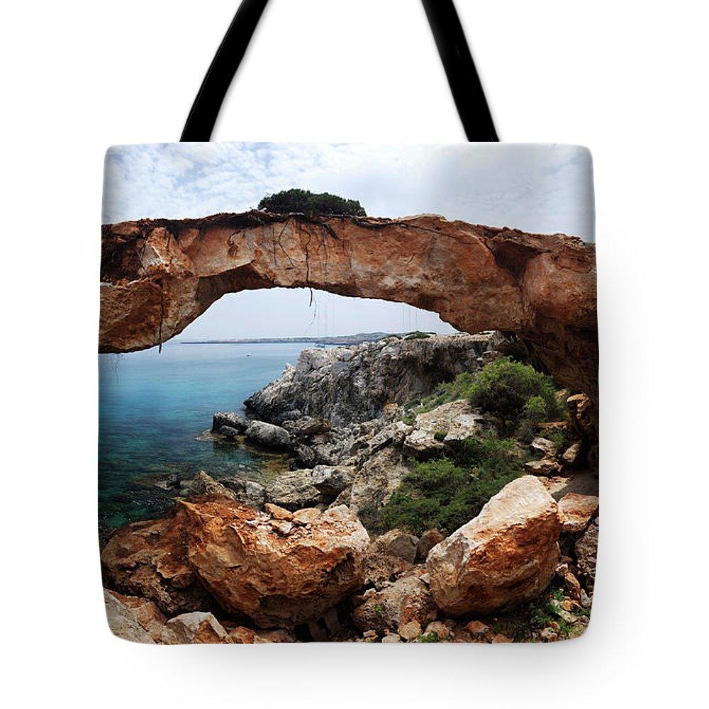 Cyprus Tote Bag featuring the photograph Natural Bridge - Cape Gkreko - Cyprus by Oleksiy Maksymenko