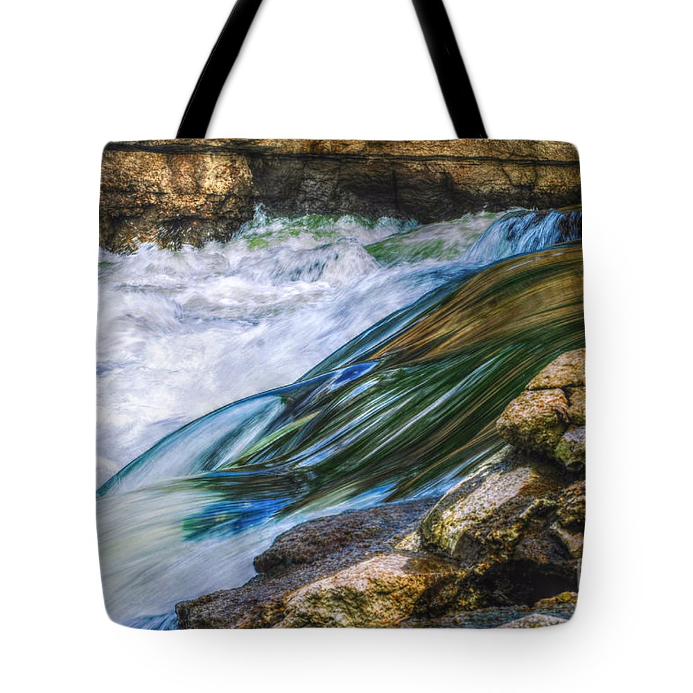 Landscape Tote Bag featuring the photograph Natural Spring Waterfall Big River by Peggy Franz