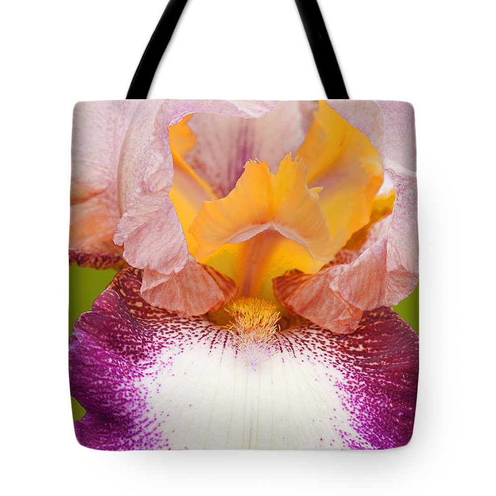 Iris Tote Bag featuring the photograph Nature's Magic by Regina Geoghan