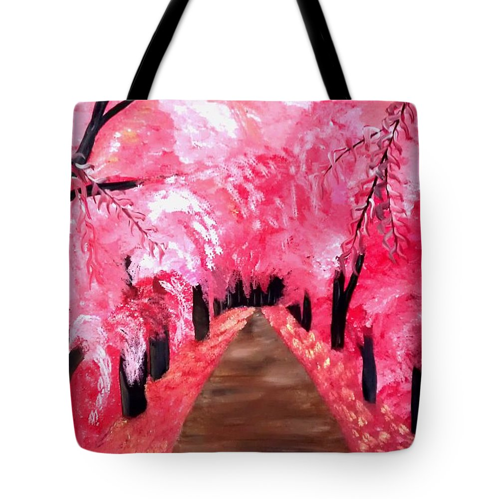 Mark Tote Bag featuring the painting Natures Promise by Mark Moore