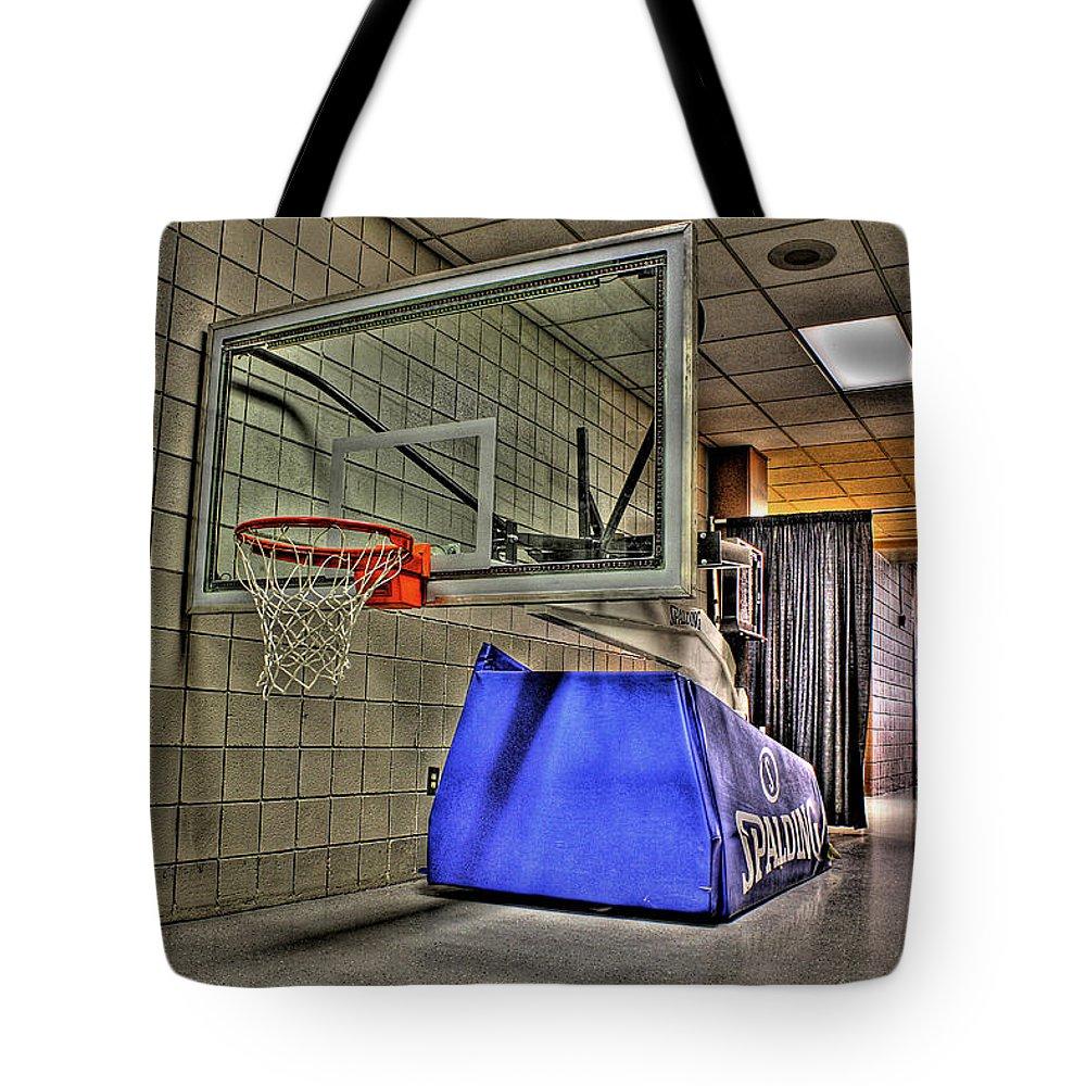 Tote Bag featuring the photograph Nba Hoop Auburn Hills Mi by Nicholas Grunas