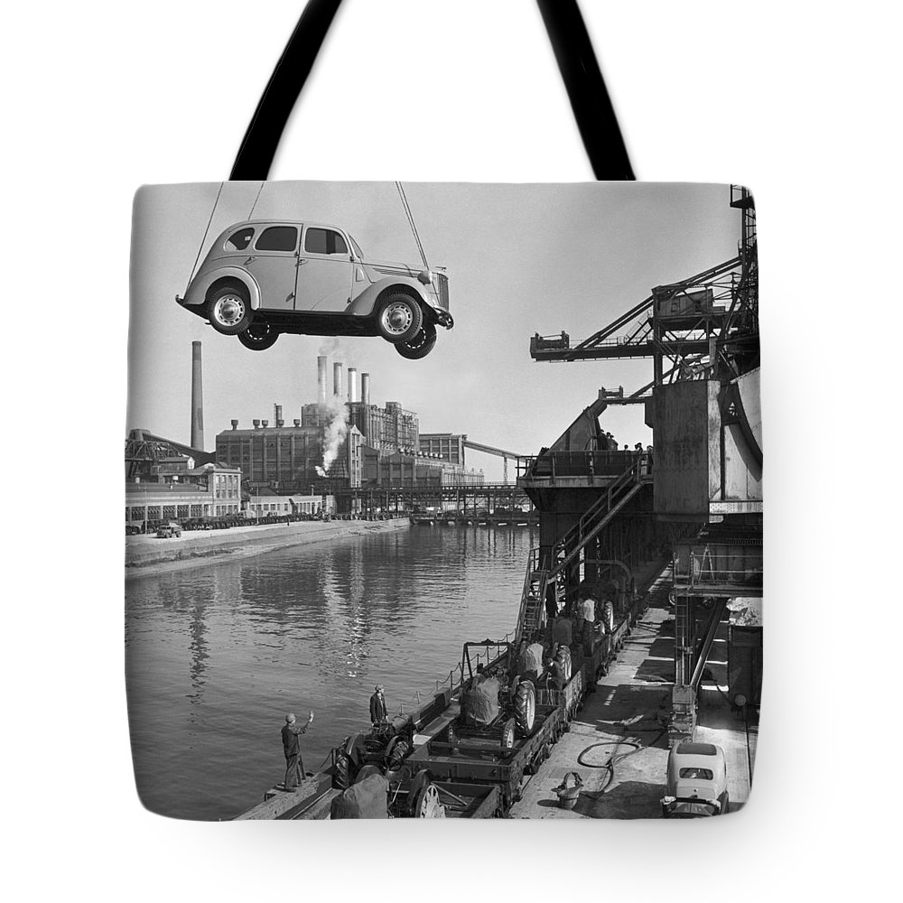 Europe Tote Bag featuring the photograph Near London. The Ford Motor Plant by B. Anthony Stewart