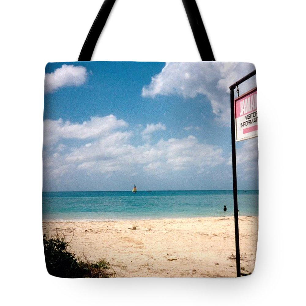 Jamaica Tote Bag featuring the photograph Negril Beach Jamaica by Debbie Levene