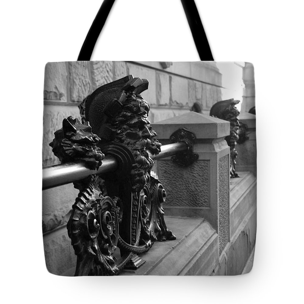 Black And White Tote Bag featuring the photograph Neptune Dakota In Black And White by Rob Hans