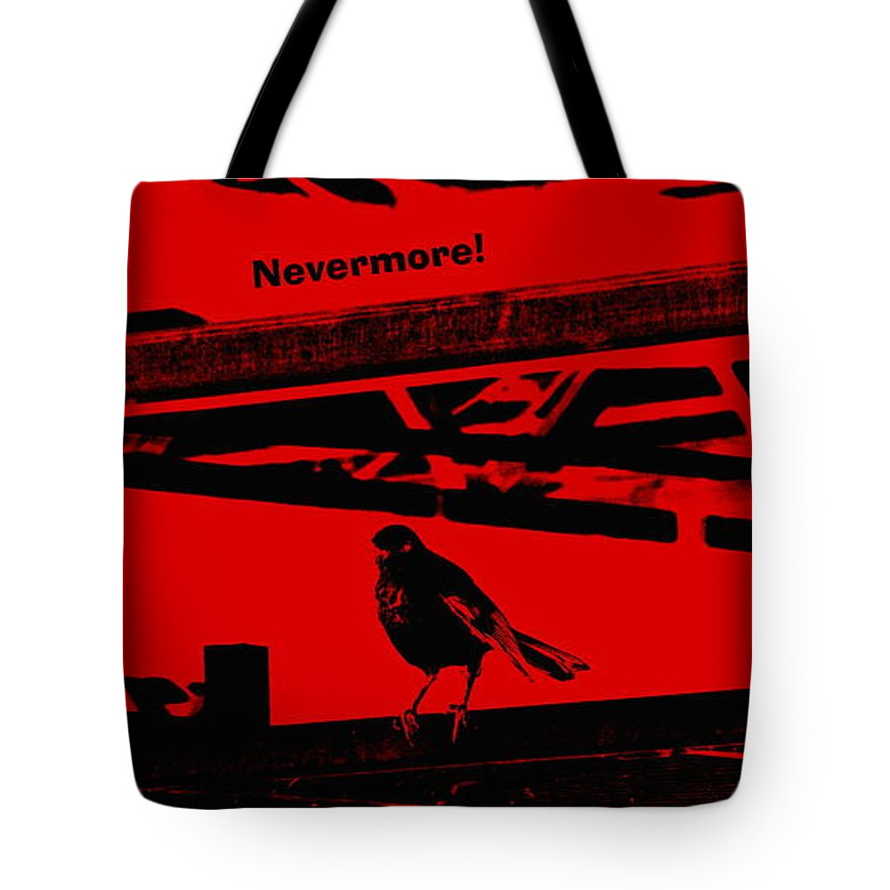 Nevermore Tote Bag featuring the photograph Nevermore by Renee Trenholm