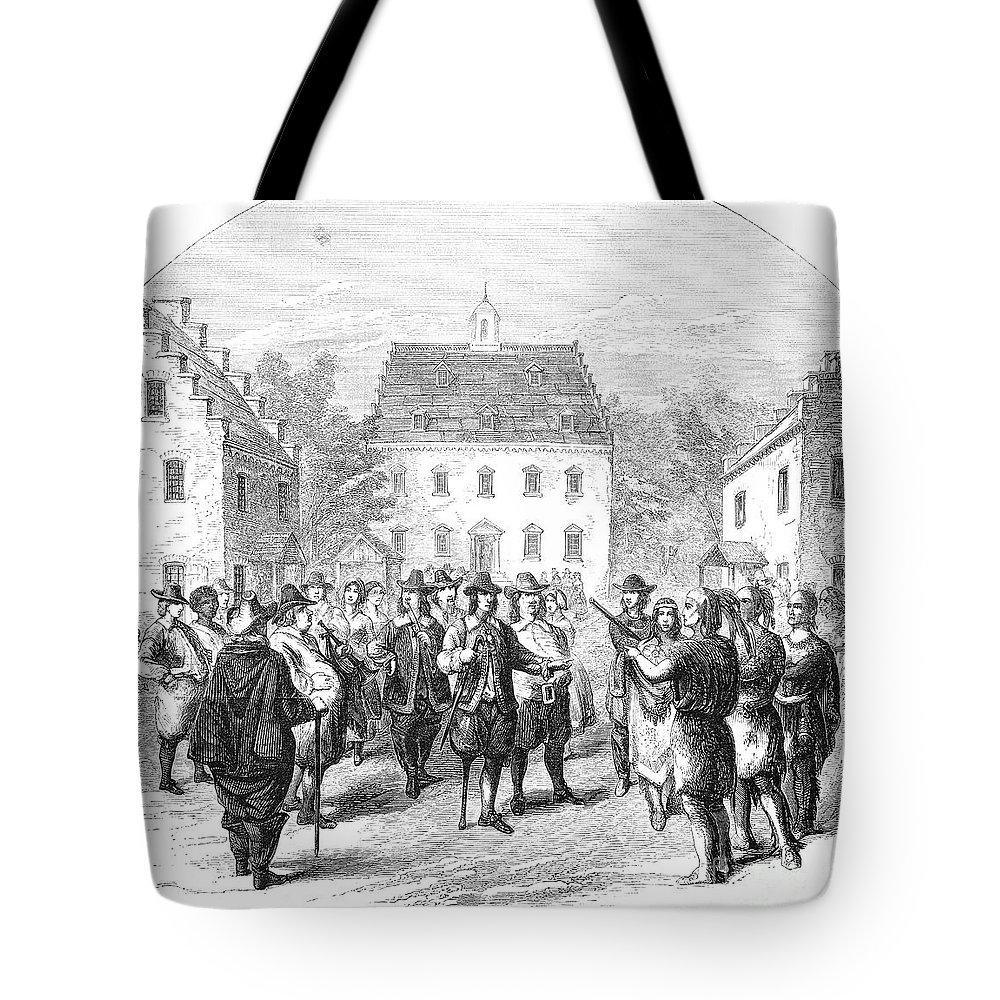 1660 Tote Bag featuring the photograph New Amsterdam, 1660 by Granger