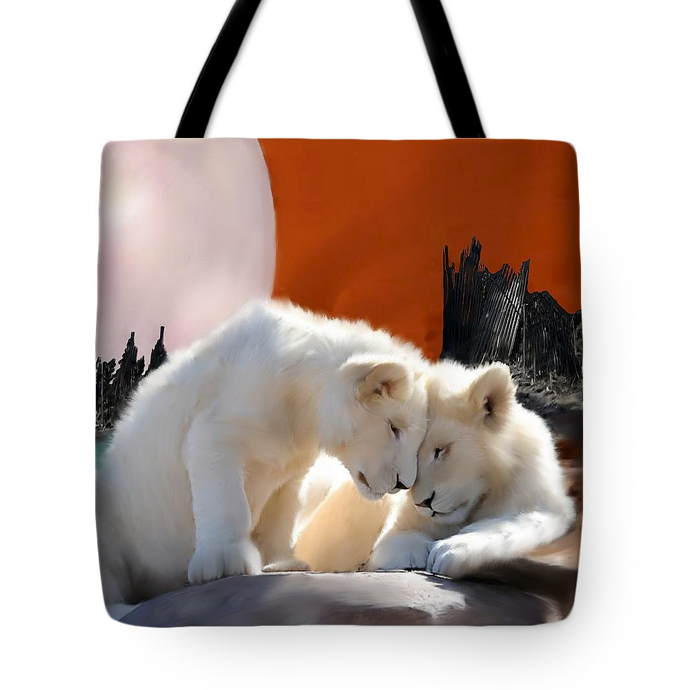 Conservation Art Tote Bag featuring the painting New Beginnings by Shere Crossman
