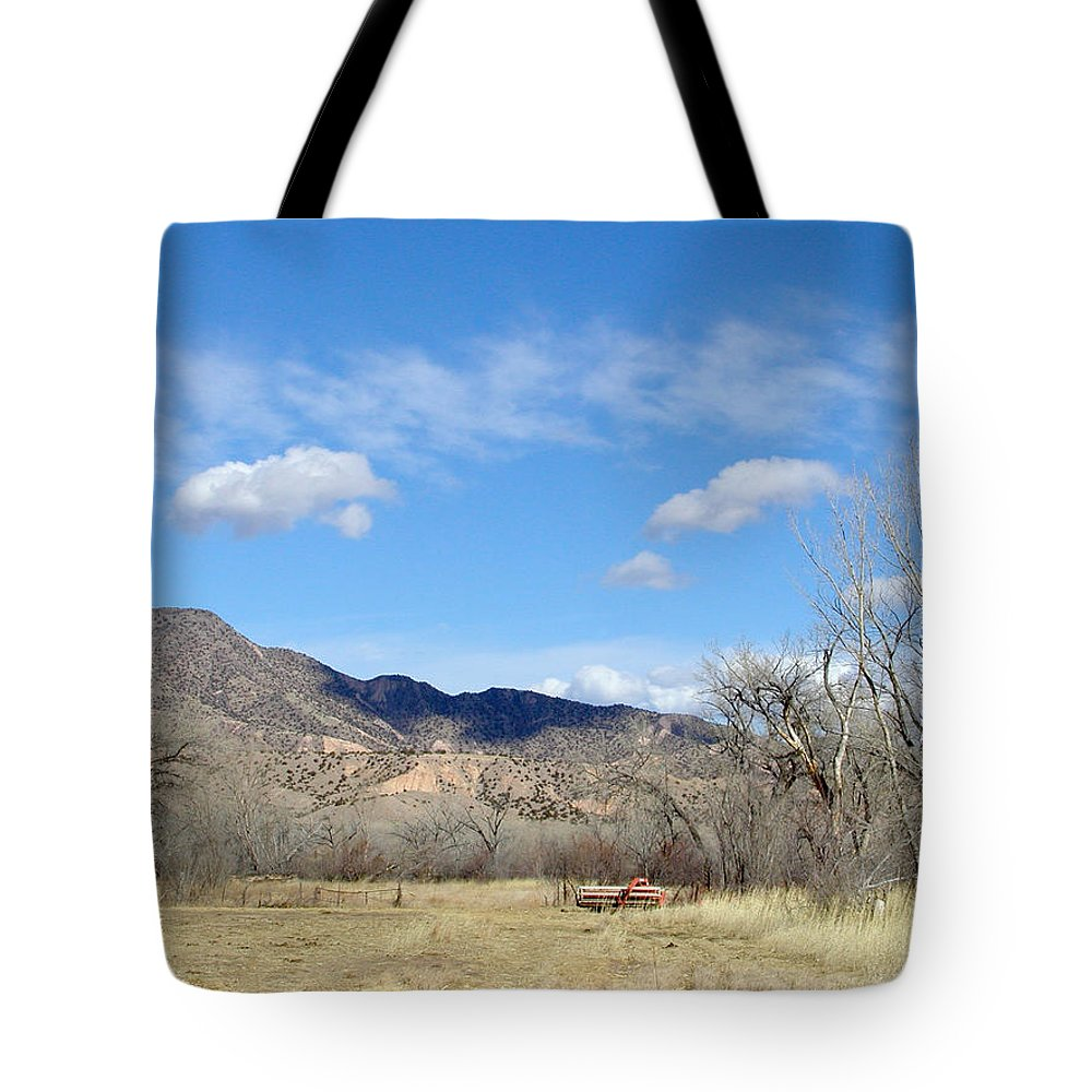 Landscape Tote Bag featuring the photograph New Mexico Series - Winter Desert Beauty by Kathleen Grace
