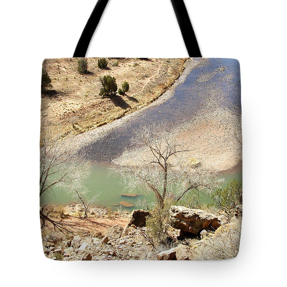 New Mexico Tote Bag featuring the photograph New Mexico Series A River View by Kathleen Grace