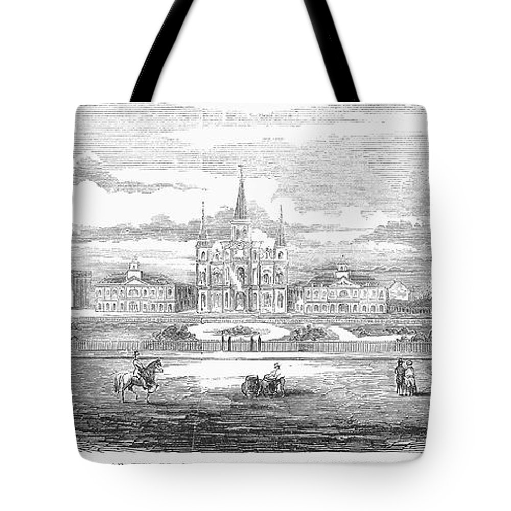 1853 Tote Bag featuring the photograph New Orleans, 1853 by Granger