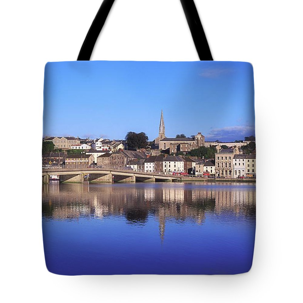 Blue Sky Tote Bag featuring the photograph New Ross, Co Wexford, Ireland by The Irish Image Collection