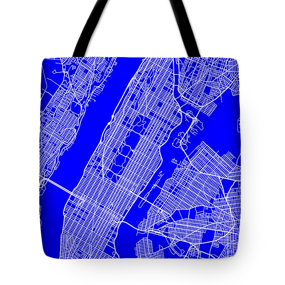 Art Bag Nyc New York City Map Streets Art Print Tote Bag For Sale By Keith