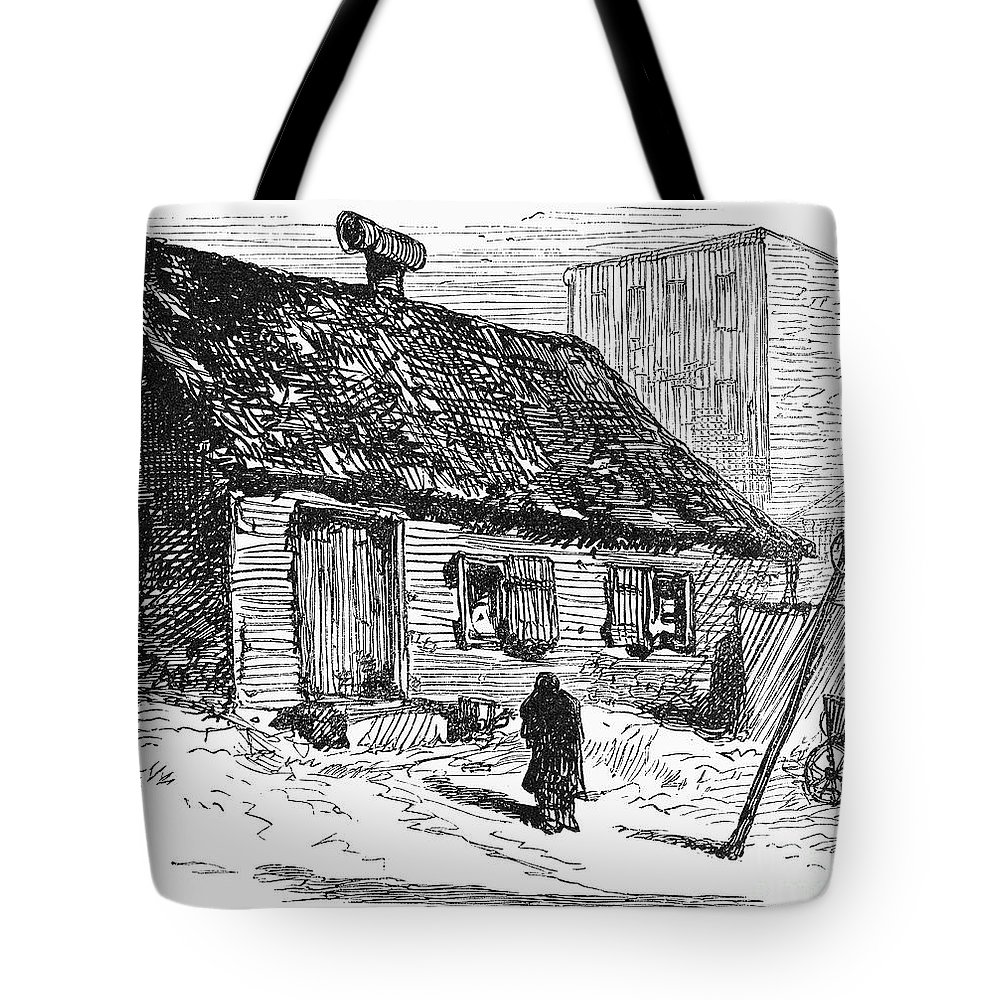 1875 Tote Bag featuring the photograph New York: Shanty, 1875 by Granger