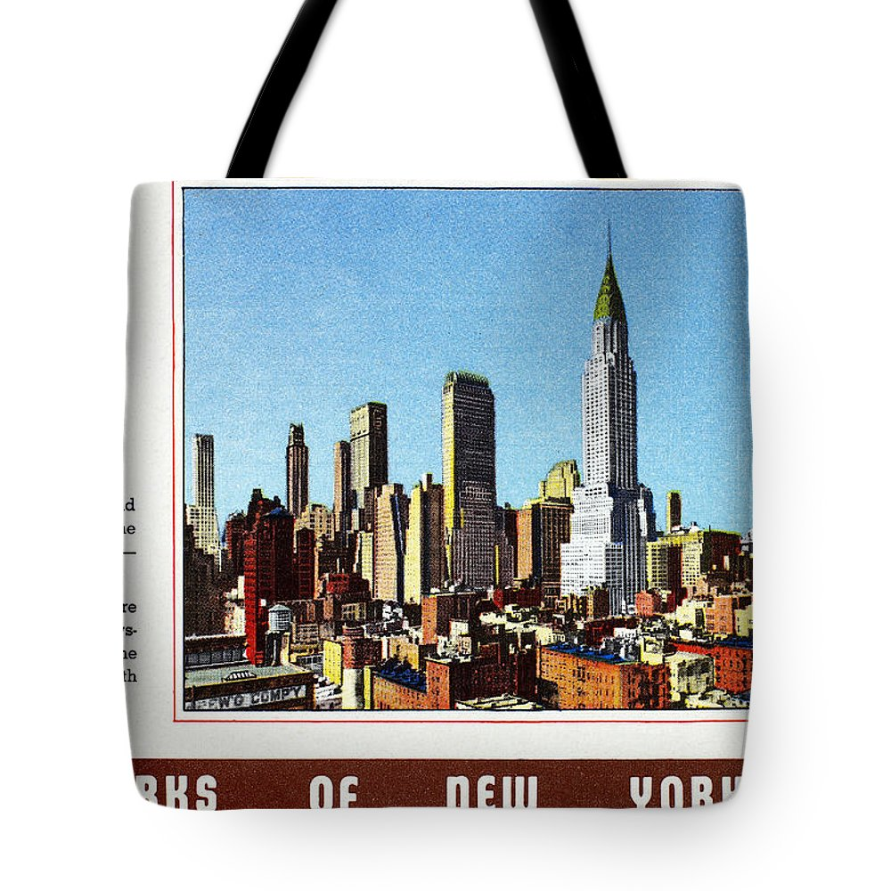 1940 Tote Bag featuring the photograph New York: Skyscrapers by Granger