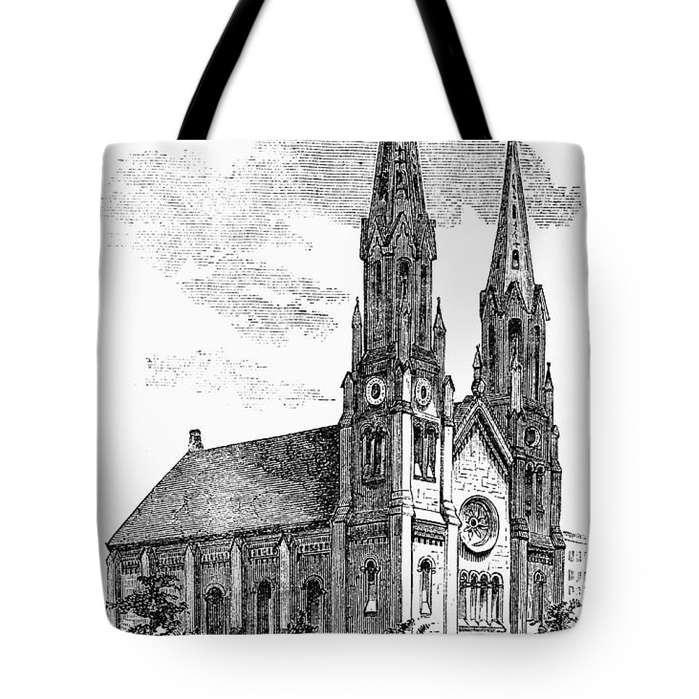 1857 Tote Bag featuring the photograph New York: St. Georges by Granger