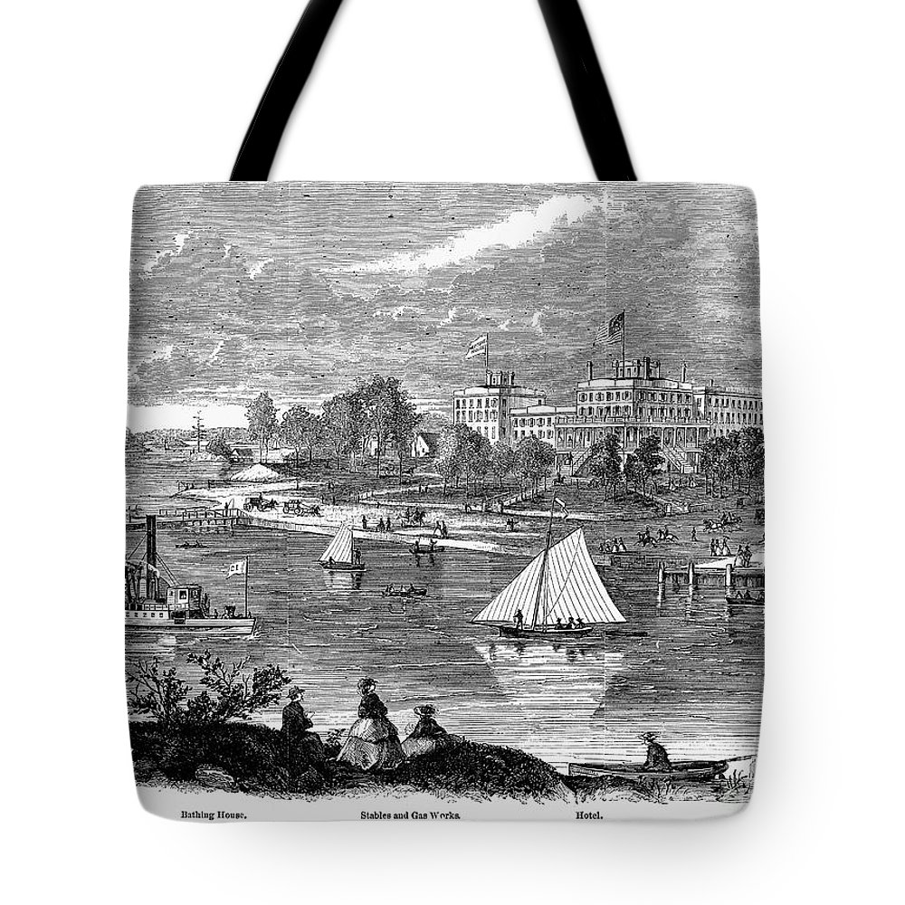 1862 Tote Bag featuring the photograph New York State: Hotel, 1862 by Granger