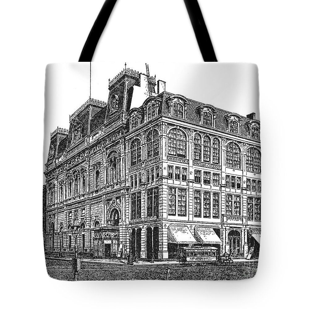 1869 Tote Bag featuring the photograph New York: Theater, 1869 by Granger