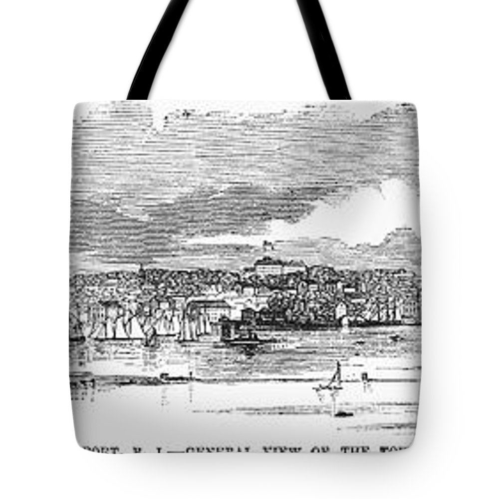 1853 Tote Bag featuring the photograph Newport, 1853 by Granger