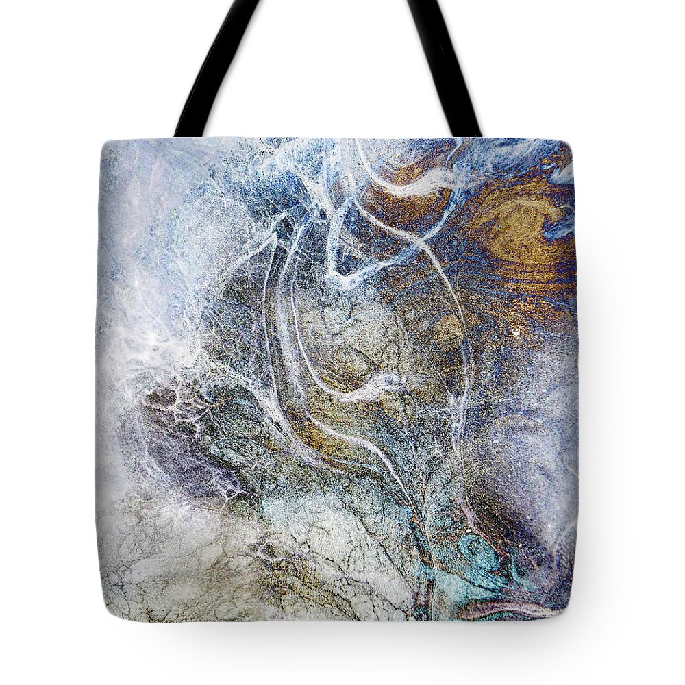Snow Tote Bag featuring the digital art Night Blizzard by Francesa Miller